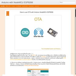 Arduino with NodeMCU ESP8266 : How to use OTA with Arduino NodeMCU ESP8266
