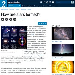 How are stars formed?