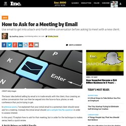 How to Ask for a Meeting by Email
