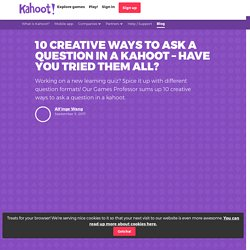 How to ask a question in a quiz on Kahoot!