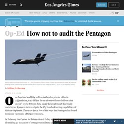 How not to audit the Pentagon