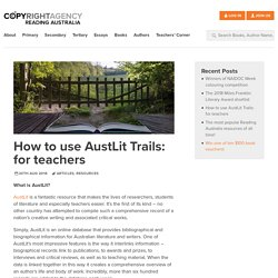 How to use AustLit Trails: for teachers