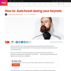 How to: Auto-tweet during your keynote