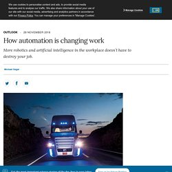 How automation is changing work