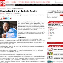 How to Back Up an Android Device