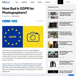 How Bad is GDPR for Photographers?