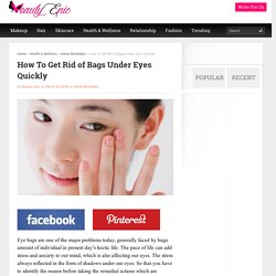 How To Get Rid of Bags Under Eyes Quickly
