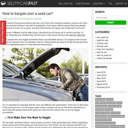 How to bargain over a used car? -