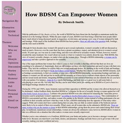 How BDSM Can Empower Women