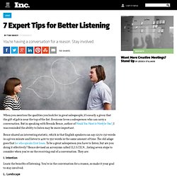 How to Be a Better Listener