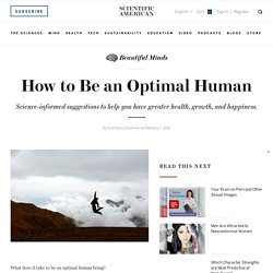 How to Be an Optimal Human