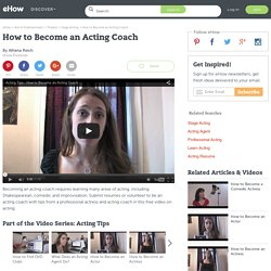 How to Become an Acting Coach
