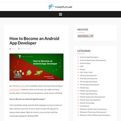 How to Become an Android App Developer