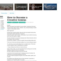 How to Become a Creative Genius - lifehack.org