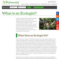 How to Become an Ecologist