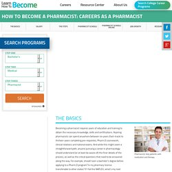How to become a pharmacist?