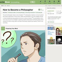 How to Become a Philosopher: 11 Steps