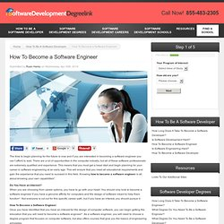 how to become software engineer Software engineers design and develop computer applications and programs find out how to become a software engineer and what a fair software engineer salary is.
