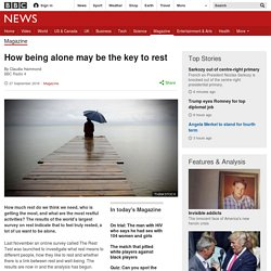 How being alone may be the key to rest