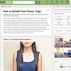 How to Benefit from Power Yoga