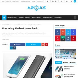 How to buy the best power bank - airGads