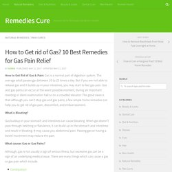 How to Get rid of Gas? 10 Best Remedies for Gas Pain Relief