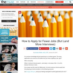 How to Get Better Results in a Job Search