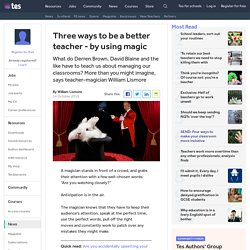 Become a better teacher using magic