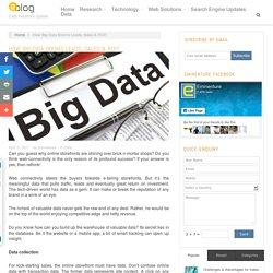 How Big-Data Booms Leads, Sales & ROI?
