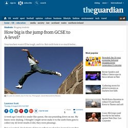 How big is the jump from GCSE to A-level?