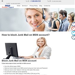 How to block Junk Mail on MSN account?