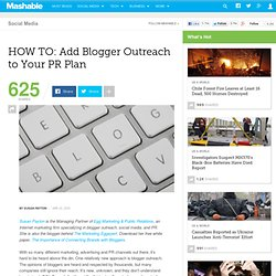 HOW TO: Add Blogger Outreach to Your PR Plan