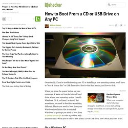 How to Boot From a CD or USB Drive on Any PC