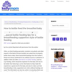 How to bottle feed the breastfed baby