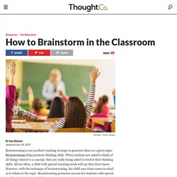 How to Brainstorm in the Classroom