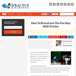 How To Brainstorm The Fun Way - Using Tricider