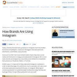 How Brands Are Using Instagram