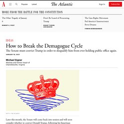 How to Break the Demagogue Cycle