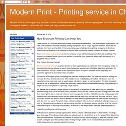 How Brochure Printing Can Help You