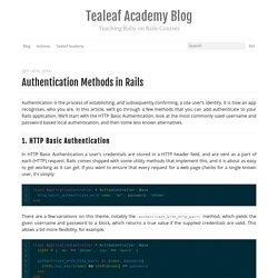 How to Build Authentication in Rails