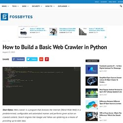 How to Build a Crawler in Python