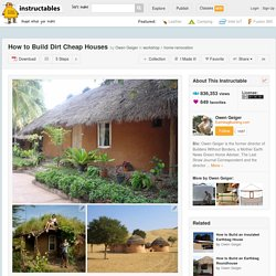 How to Build Dirt Cheap Houses