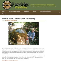 How To Build An Earth Oven For Nothing