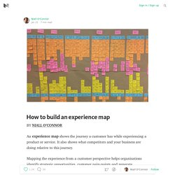 How to build an experience map