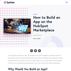 How to Build an App on the HubSpot Marketplace