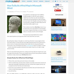 How To Build a Mind Map In Microsoft Word