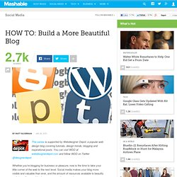 HOW TO: Build a More Beautiful Blog