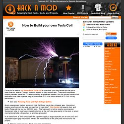 How to Build your own Tesla Coil