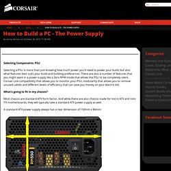 How to Build a PC - The Power Supply