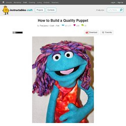 How to Build a Quality Puppet : 11 Steps